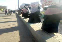 """فعالية """"نساء ضد الانقلاب"""" بأبوحمص ضد حكم العسكر"""