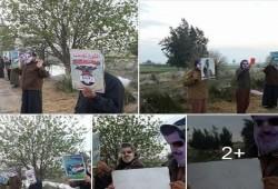 فيديو.. سلسلة بشرية لثوار الدلنجات تندد بخيانة العسكر