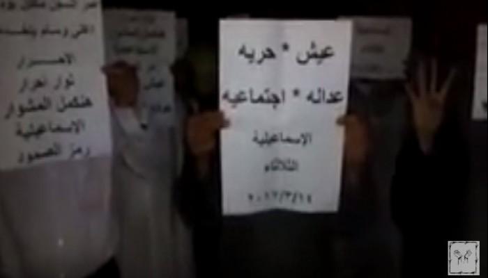فيديو.. ثوار الإسماعيلية يطالبون برحيل العسكر