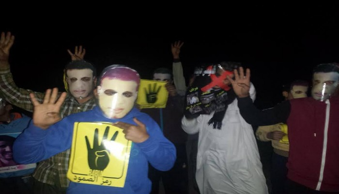 وقفة ليلية لثوار الدلنجات ضد جرائم العسكر