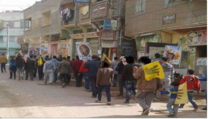 بالصور.. مسيرة لثوار البصارطة بدمياط