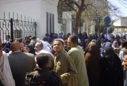 اندلاع مظاهرات بالمنيا والجيزة أمام مكاتب التموين