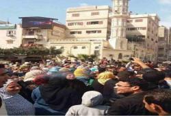 مظاهرات الخبز تقطع شريط السكة الحديد بكفر الشيخ