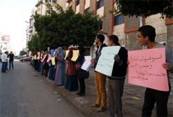 وقفة لطلاب بورسعيد تندد بإضاعة الانقلاب حصة مصر المائية