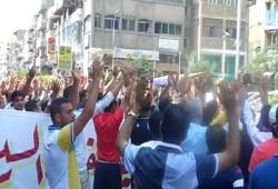 وقفة لطلاب ضد الانقلاب ببورسعيد تندد بالممارسات القمعية