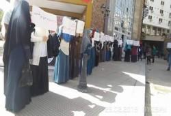 طلاب المجمع الطبي بالإسكندرية يهتفون بالحرية للمعتقلين
