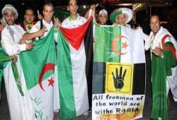 """جماهير الجزائر ترفع """"رابعة"""" بعد الفوز على كوريا الجنوبية"""