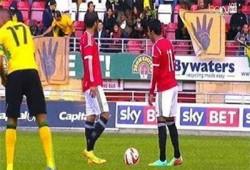 الجماهير ترفع لافتات رابعة في مباراة مصر- جامايكا بلندن