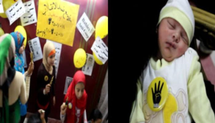"""""""رضع ضد الانقلاب"""" تحتفل بمولودة ربعاوية جديدة ببورسعيد"""