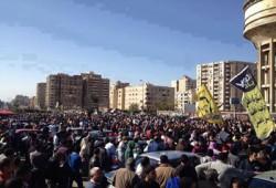 ثوار مدينة نصر يحتشدون لرفض انتخابات الدم