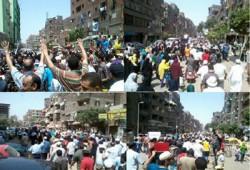 """بالصور.. طوفان بشري في مسيرة المطرية ضد """"رئاسة الدم"""""""
