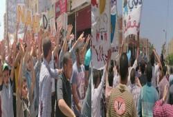 بالصور.. مسيرة حاشدة لأحرار قطور تطالب بإسقاط الانقلاب