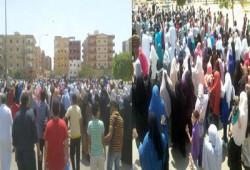 بالصور.. ثوار السادات يحرقون صور السفاح في مسيرة حاشدة