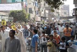 سلسلة بشرية باشمنت بني سويف للدعوة لمقاطعة رئاسة الدم