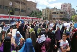 ثوار اطسا يطالبون باستعادة مكتسبات 25 يناير في مسيرة حاشدة
