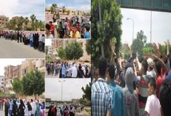 بالصور.. مسيرات ووقفات طلابية بالشرقية تنديدًا بجرائم الانقلاب