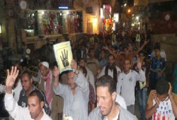 ثوار اطسا بالفيوم يطالبون باسترداد الشرعية في مسيرة ليلية