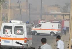 حاملة دبابات تدهس سيارة ملاكي بمصر الجديدة