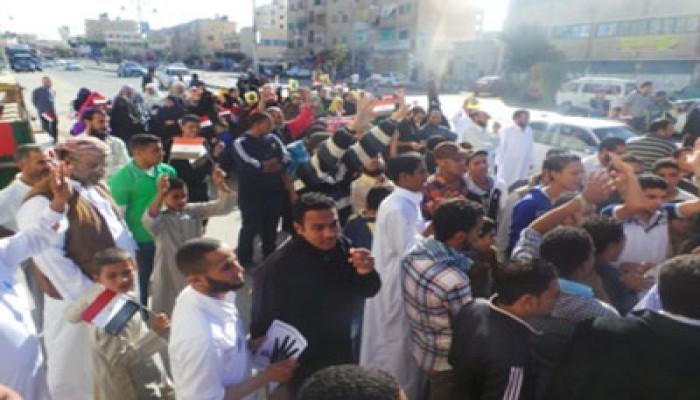 """مسيرة حاشدة لأهالي """"الضبعة"""" رفضًا للانقلاب ووثيقة العسكر"""