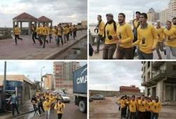 مارثون رياضي ومسيرة صباحية بالإسكندرية تتحدى الانقلاب والبرد