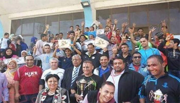 فريق ألعاب القوى بالجيزة يرفع شارة رابعة خلال تكريمه