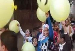 """بالفيديو.. مسيرة لأطفال """"بخاتي"""" بالمنوفية رفضًا للانقلاب وتأييدًا للشرعية"""