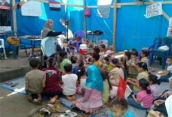 حلقات لتحفيظ الأطفال القرآن الكريم في ميدان رابعة العدوية