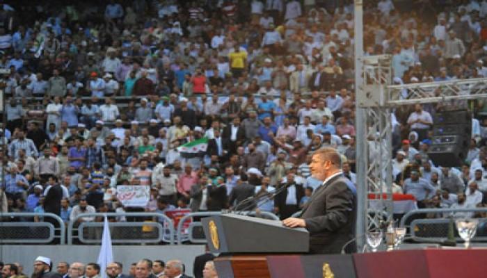 كلمة الرئيس مرسي أمام مؤتمر نصرة الشعب السوري