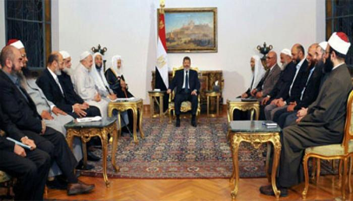 الرئيس مرسي يؤكد رفضه أي محاولات لنشر المذهب الشيعي في مصر