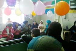 بالصور.. الحرية والعدالة يحتفل بأطفال معهد أورام بدمياط