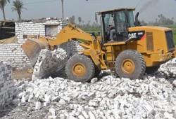 إزالة 130 حالة تعد على الأراضي الزراعية بالقليوبية