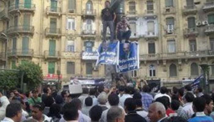 """وقفة ومسيرة بطلعت حرب ضد """"ترشيح الفلول"""""""