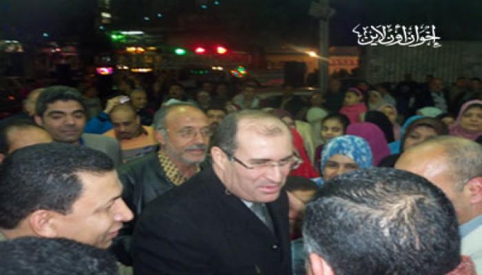 حشمت يفتتح أكبر سوق خيري للحرية والعدالة بالبحيرة