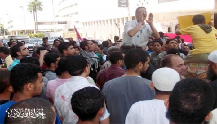 مظاهرة بالمنصورة دعمًا لجمعة الوحدة والإرادة