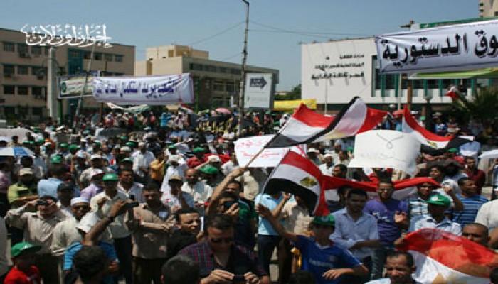 مظاهرة حاشدة بالشرقية دعمًا للوحدة ومطالب الثورة