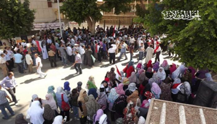 مظاهرات بمحافظات الصعيد تطالب بالتطهير والقصاص