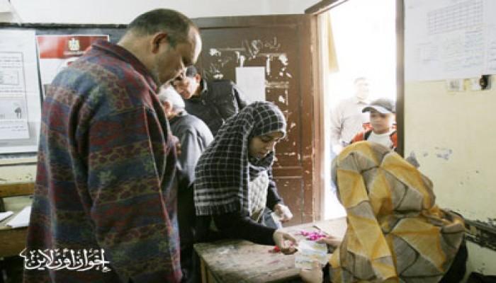 إقبال كبير من أهالي قرية صول على الاستفتاء