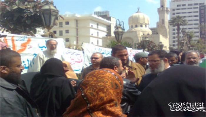 وقفة احتجاجية تطالب بالإفراج الفوري عن المعتقلين السياسيين