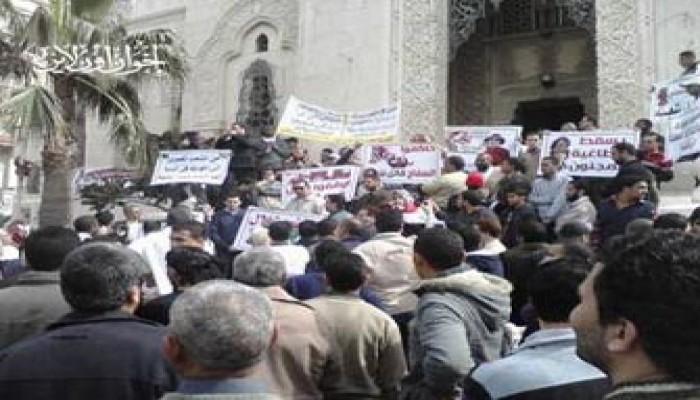 محافظات مصر تنتفض ضد الطاغية القذافي