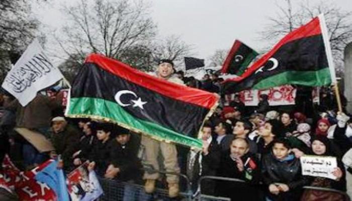 ميدان التحرير المصري يتضامن مع ثورة ليبيا