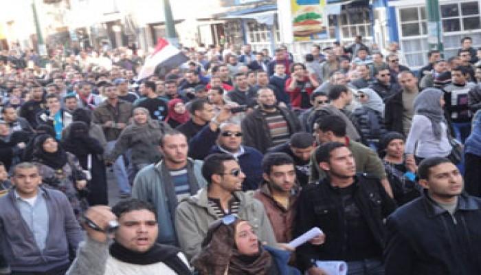 """اعتقال 100 سكندري في """"مظاهرات الغضب"""""""
