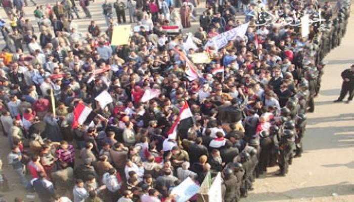 مظاهرات كفر الشيخ تطالب بالحرية ومحاكمة الفساد