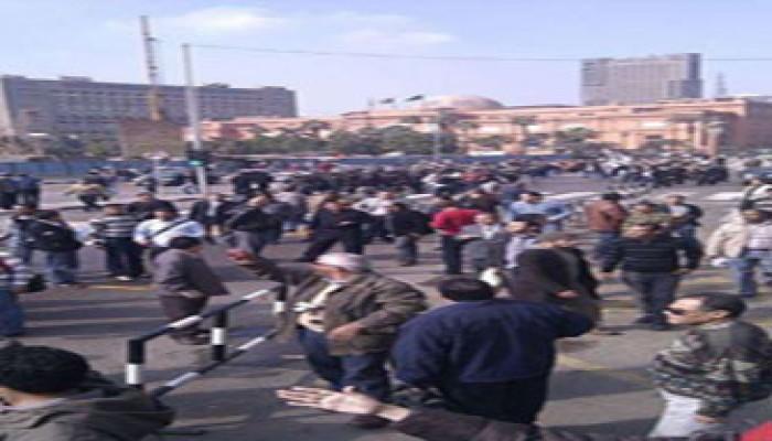 مظاهرات حاشدة أمام وزارة الخارجية