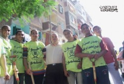 """نائبا """"مينا البصل"""" يدشنان حملة لتنظيف الشوارع"""