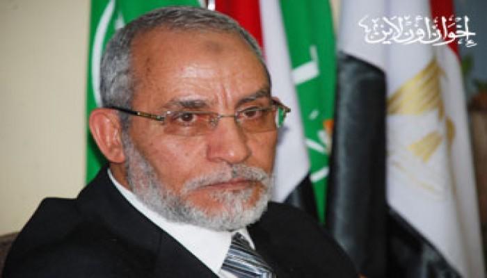 المرشد العام يواسي د. عبد الفتاح السيسي في وفاة والدته