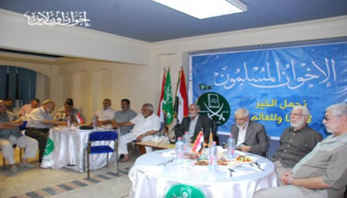 مسئولو الأقسام واللجان على مائدة إفطار المرشد العام