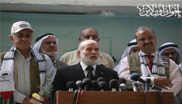 استقبال فلسطيني حافل لوفد نواب الإخوان والمعارضة