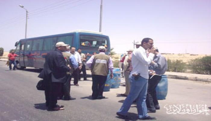 الأمن المصري يختطف شاحنات الإغاثة لقافلة الحرية