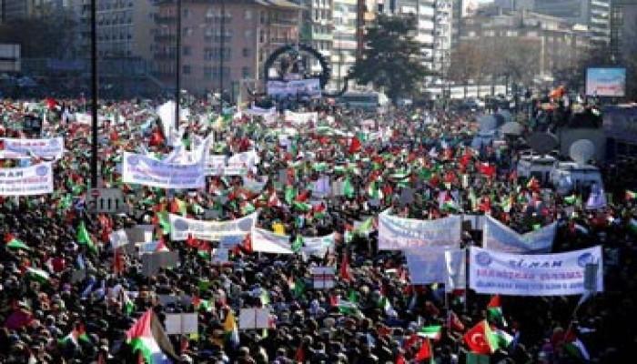 تواصل المظاهرات في تركيا لتأديب العدو الصهيوني