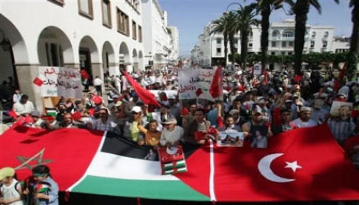 المظاهرات تعمُّ المغرب ضد مجزرة الحرية